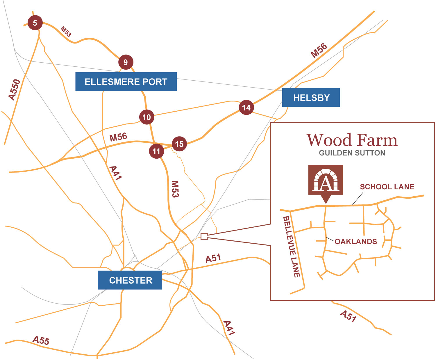 Wood Farm location map